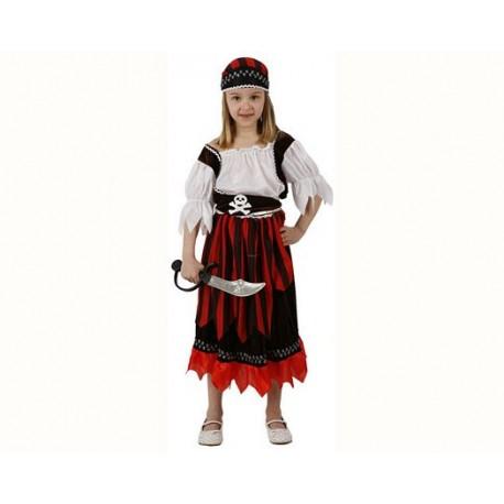 Disfraz Pirata a Rayas Niña