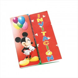 Invitaciones mickey club house 6uds