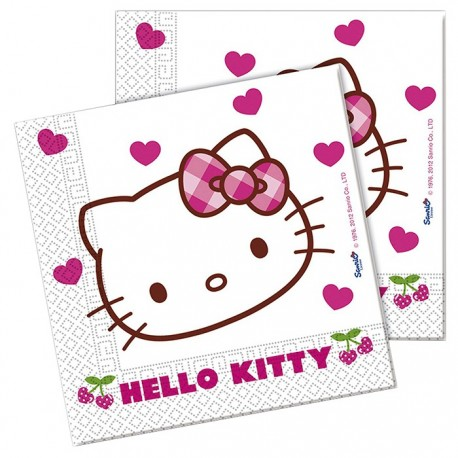Servilletas Hello Kitty 20uds
