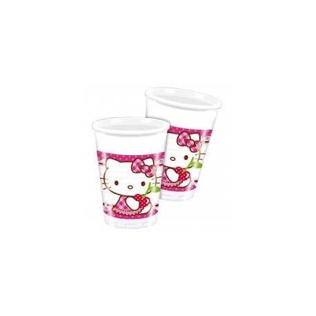 vasos Hello Kitty 8uds