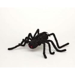 Araña Negra con Purpurina