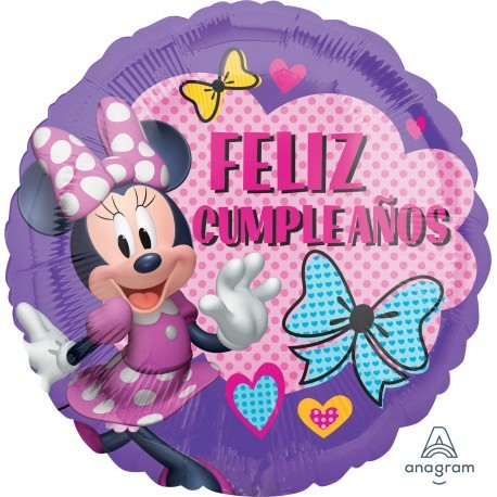 Globo Feliz Cumpleaños Minnie