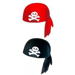 Casco Pirata Adulto negro Rojo