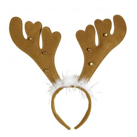 Cuernos de reno con campanas y marabú