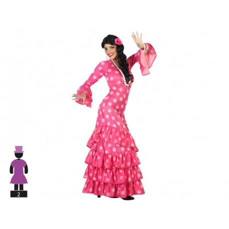 Disfraz Flamenca Rosa Adulto