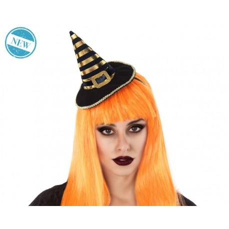 Mini sombrero de bruja naranja