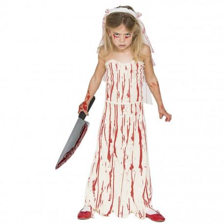 Disfraz de Novia Sangrienta Infantil.