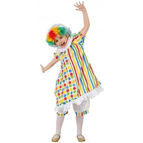 Disfraz Infantil Payaso Lunares Niña