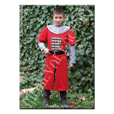 Traje Medieval Templar niño